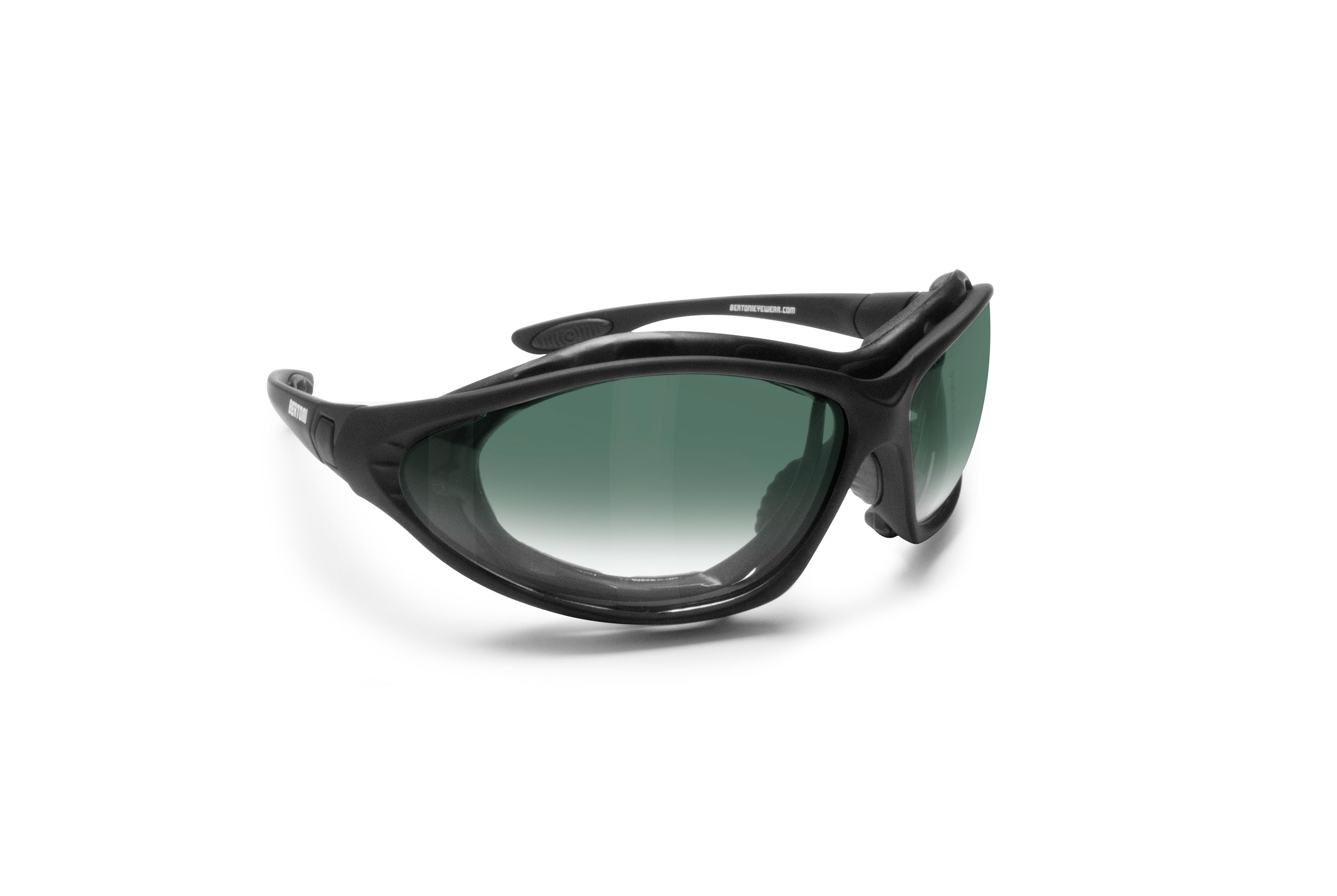 Motorcycle Goggles Convertible with Mask with Anti-Fog Lenses by Bertoni Italy - FT333B