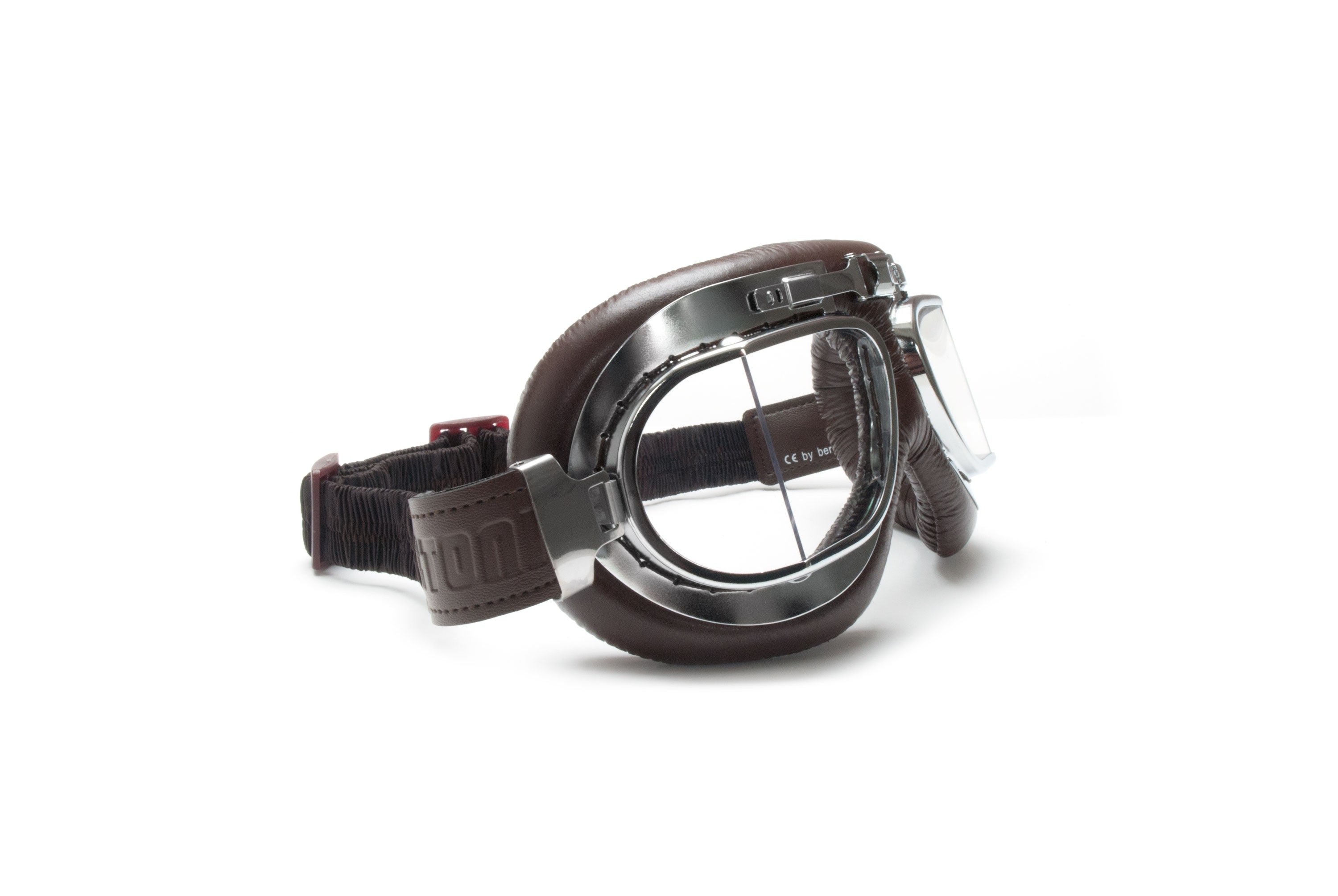 AF193CR Vintage Classic Motorcycle Brown Leather Goggles