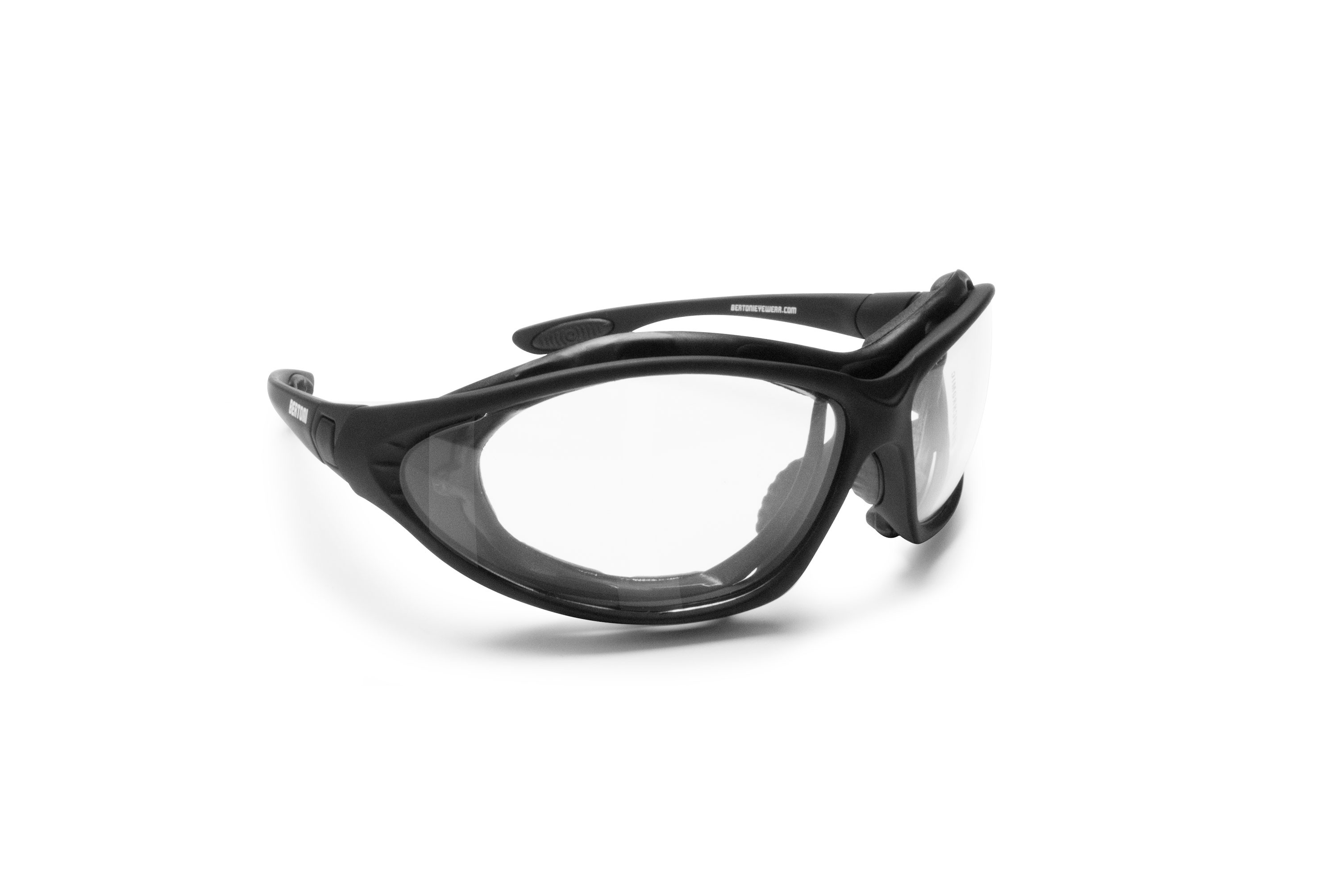 Motorcycle goggles convertible to mask with photochromic lenses by Bertoni Italy F333A