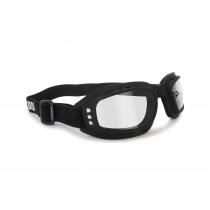 Motorcycle Goggles Antifog - Adjustable Strap - Ventilated - Bertoni Italy AF112A