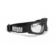 Photochromic Motorcycle Goggles Sunglasses - by Bertoni Italy - F120A