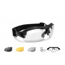 Motorcycle Sunglasses for Prescription Lenses AF399A Matt Black
