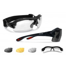 9bad0f6caa6 Motorcycle Prescription Glasses and Goggles – 3 Interchangeable Antifog  Lenses - Removable Clip for Pescription Lenses