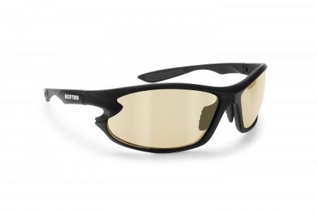 Photochromic Motorcycle Sunglasses with Yellow Lenses F676YA