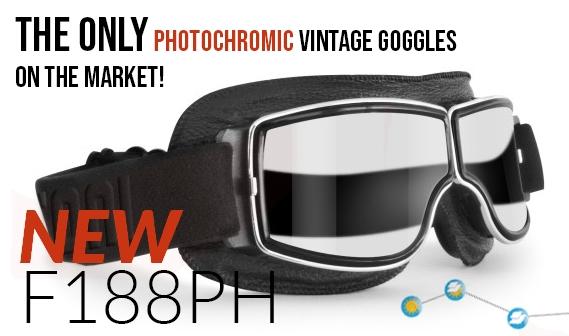 2e62f8df6882 Bertoni Vintage Motorcycle Sunglasses   Goggles for Harley Chopper Scooter  - Helmet Friendly Goggles - Photochromic Antifog Polarized Lenses